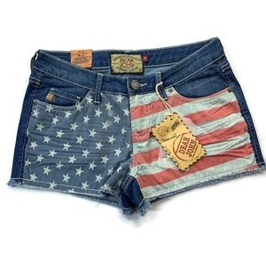 Dear John Patriotic Denim Shorts Size 25